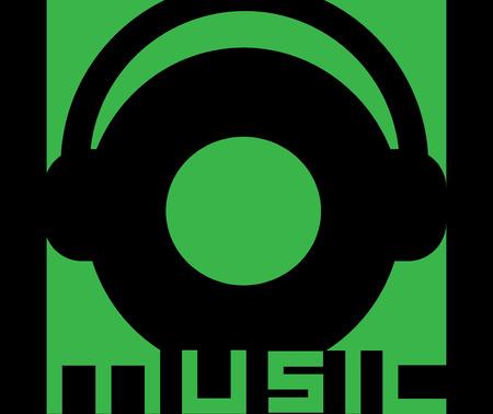Musik Konzept Design mit Headset.
