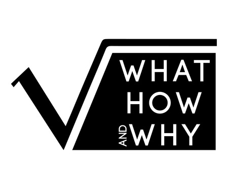 square root: What,How,Why with Square Root Graphic Design.