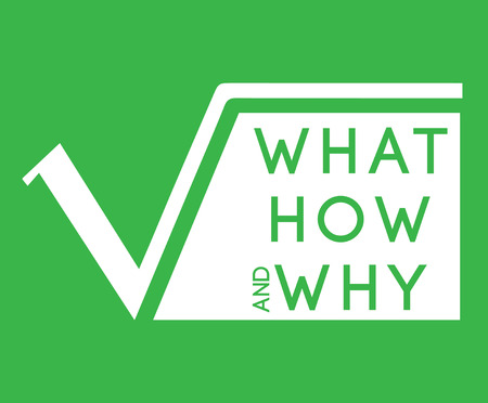 What,How,Why with Square Root Graphic Design.