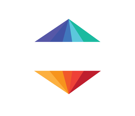 Abstract Colour Pyramid Design, A? 10 supported.