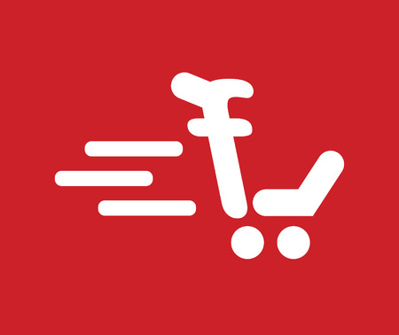 add to cart: Shopping Cart Icon Concept Design. AI 8 supported.