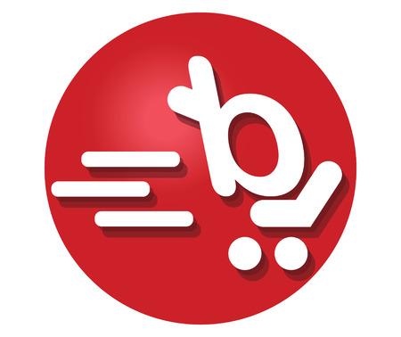 Shopping Cart Icon Concept Design. AI 8 supported.