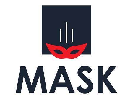 Mask Concept Design, AI 8 supported. Illustration