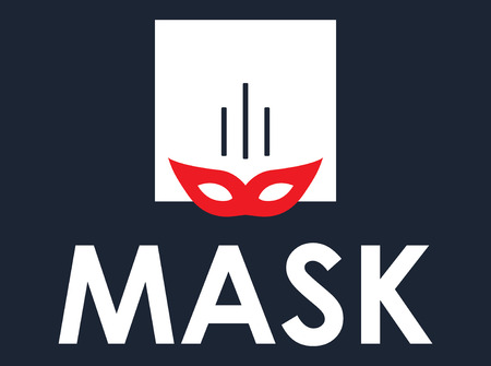 Mask Concept Design, AI 8 supported. Illustration
