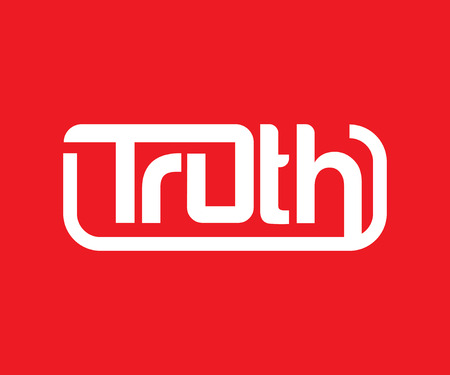 truth: Truth Logo Design COncept, AI 10 supported. Illustration