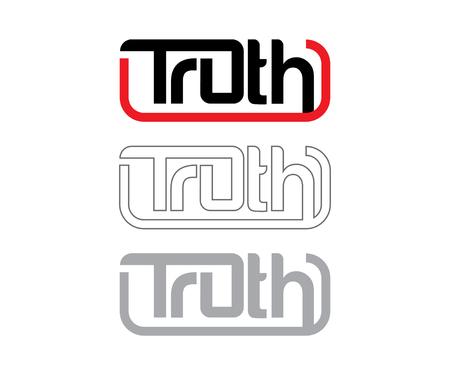 legitimacy: Truth Logo Concept, AI 10 supported.