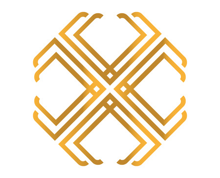 unreadable: Golden Abstract T Logo Design, AI 10 supported. Illustration