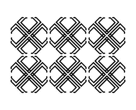 unreadable: Abstract T Pattern Design, AI 10 supported.