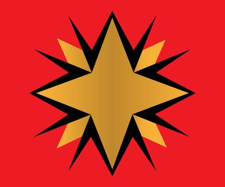 Golden Star Logo Design, AI 10 supported.