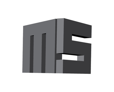 3D MS Logo Design, AI 10 supported.