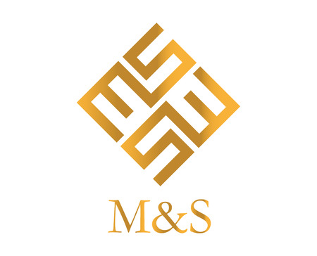 ms: MS Logo Design, AI 10 supported. Illustration