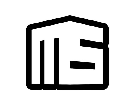 ms: 3d MS Logo Design, AI 10 supported.