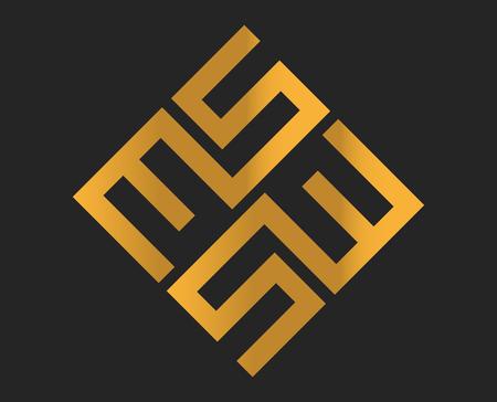 MS Logo Design, AI 10 supported. Vectores