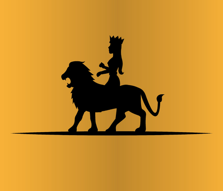 royal safari: Lion and Queen Illustration. AI 10 supported. Illustration