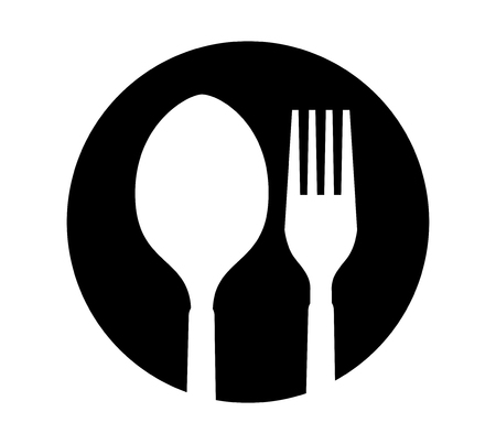 Spoon and Fork Icon Design. A? 8 supported.