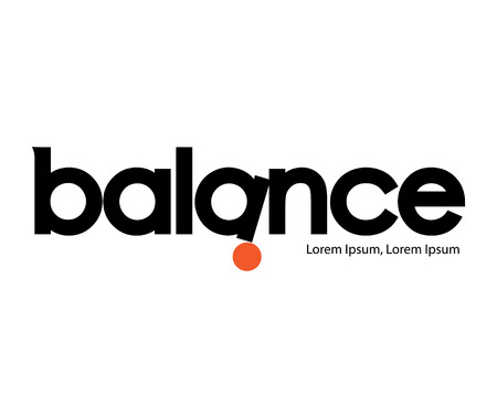 good judgment: Balance Logo Concept Design, AI 8 supported. Illustration