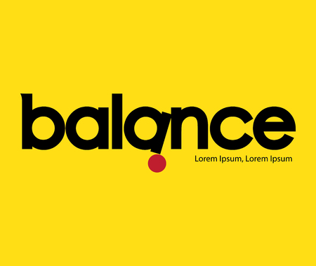 career fair: Balance Logo Concept Design, AI 8 supported. Illustration