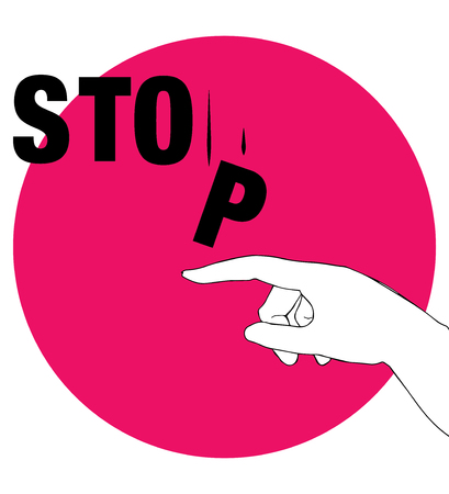 activist: Protest Poster for Stop. AI 10 supported.