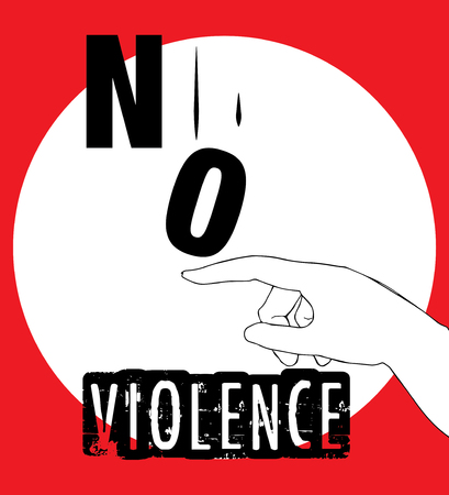 victim war: No Violence Protest Poster Design. AI 10 supported.