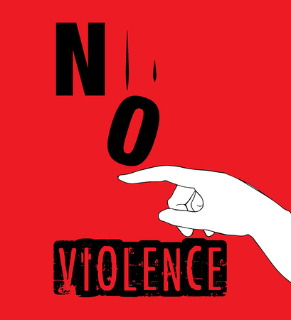 protest poster: No Violence Protest Poster Design. AI 10 supported.
