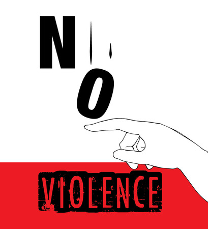 protest design: No Violence Protest Poster Design. AI 10 supported.