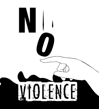 intimidation: No Violence Protest Poster Design. AI 10 supported.