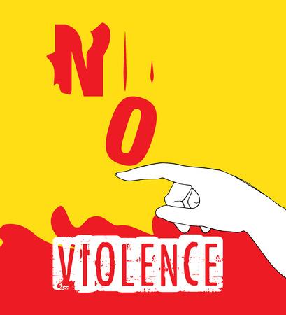 crime prevention: No Violence Protest Poster Design. AI 10 supported.