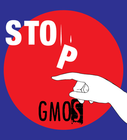 genetically modified crops: No GMOs Concept Design, AI 10 supported.