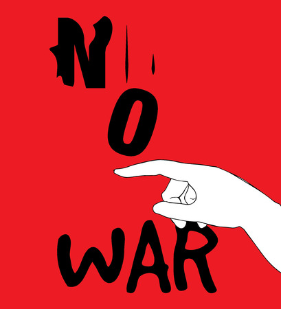 safety slogan: No War Poster Design, AI 10 supported.
