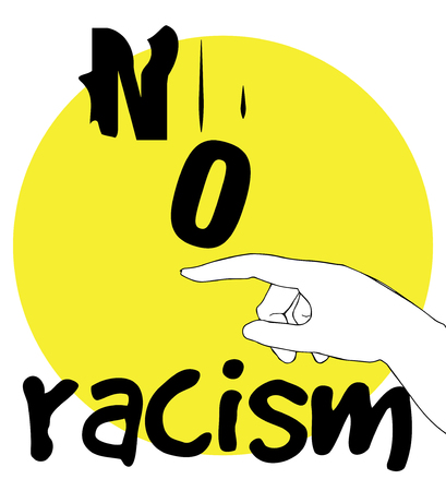 racismo: No Racism Concept Design. AI 10 supported.