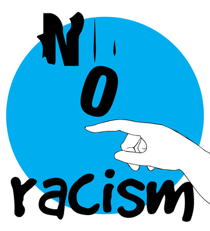 racism: No Racism Concept Design. AI 10 supported.