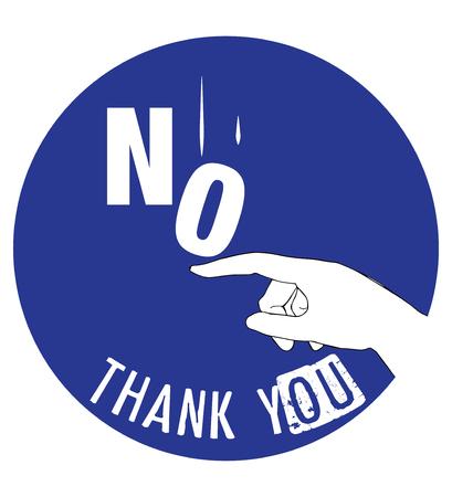 Concept Design No Thank You. AI 10 supported. Ilustração