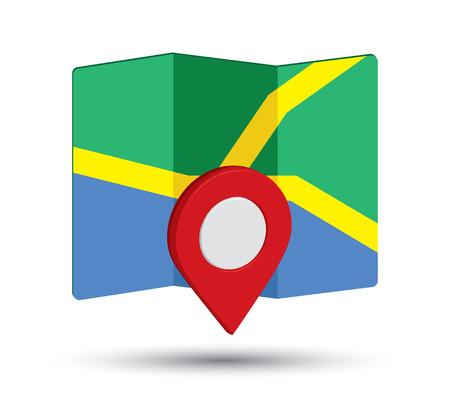Mappa icona di un 3D Pin design