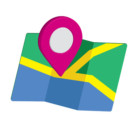 global positioning system: Map Icon an 3D Pin Design