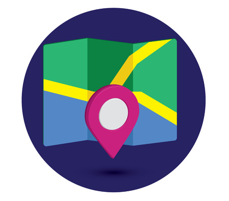 Map Icon an 3D Pin Design