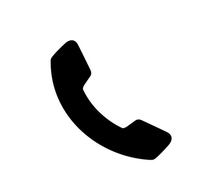 Czarny Projekt Ikona Telefonu.