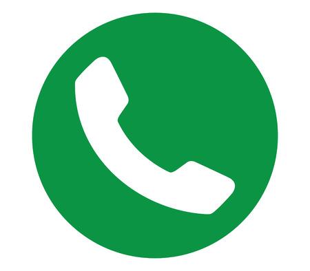 Green Phone Icon Design.