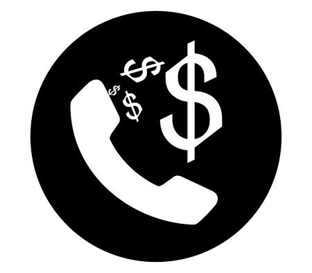 dollar sign icon: Phone and Dollar Sign Icon