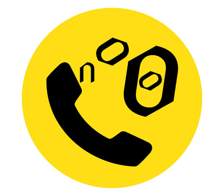 illegal zone: Phone Icon for No