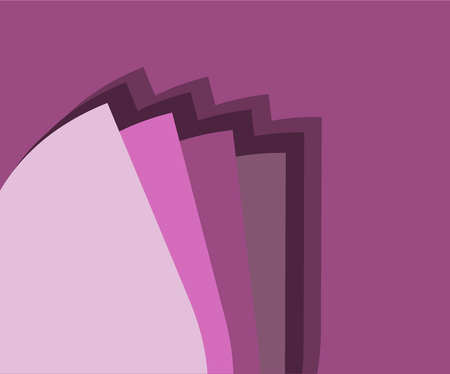 Pink Background with Color Scale Illustration