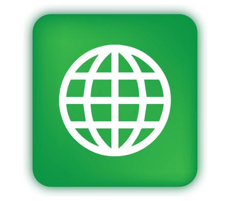 illuminated: Green illuminated world icon design.