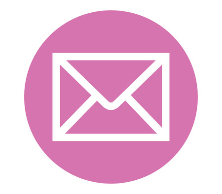backgorund: E-Mail Icon with Pink Backgorund Design. Illustration