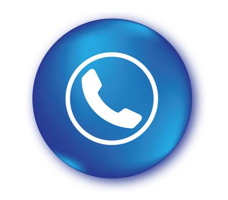 Blue Phone Icon Design.