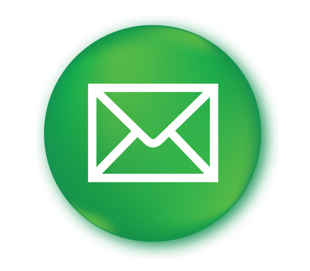 E-Mail Icon with Green Background Design. Illustration
