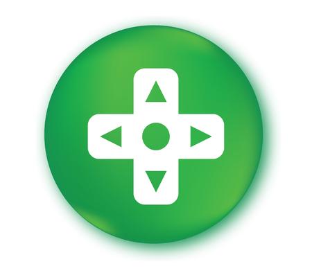 Game Controller Button Design. Illustration