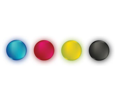 paletas de caramelo: CMYK conjunto de colores.