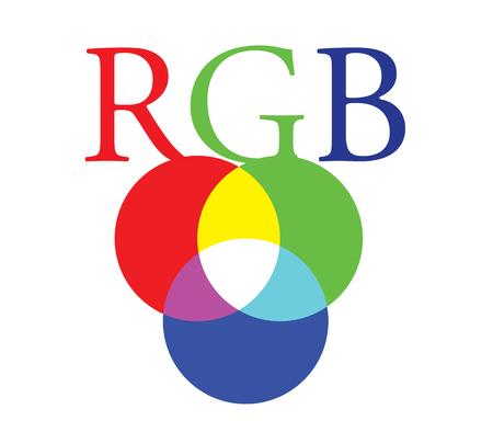 RGB Color Concept Design. Illustration