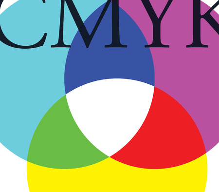 CMYK Background Design Concept Design.