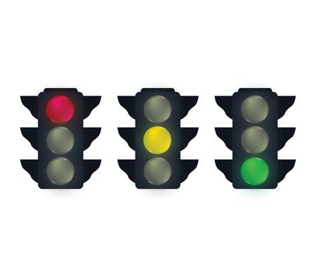 trafic: Traffic Lights Set  Design.