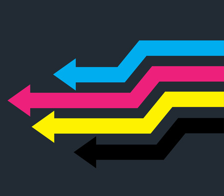cyan business: Colorful Arrows Design Illustration